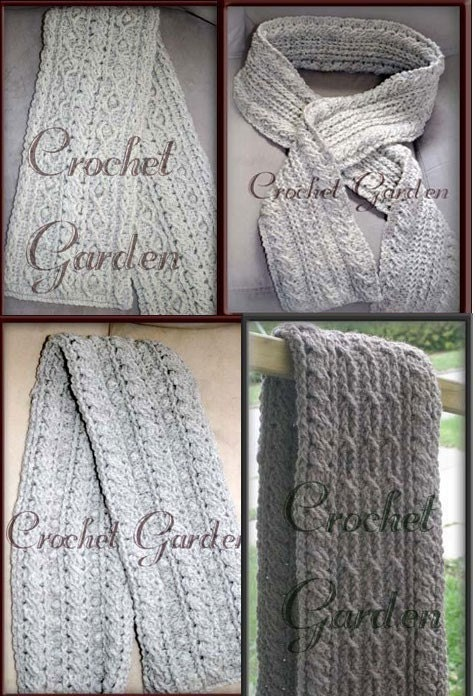 Rugged Mountain Scarf Collection Crochet Pattern Patterns for Men Crochet Scarves For Men