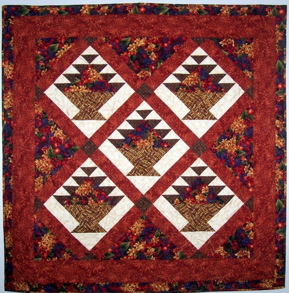Flower Basket Quilt Pattern
