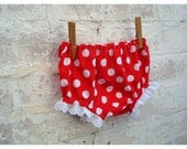 Sassy Pants Spotty Bottoms with Lace - Size - One Year