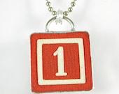 Number 1 Pendant - XOHandworks