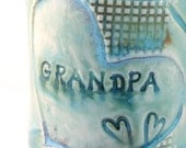 Grandpa Mug IN STOCK - Coffee Cup with dragonflies and hearts -  for birthday, Father's Day, any occasion