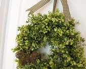 Summer Wreath - Moss Butterfly Wreath - Boxwood Wreath - Door Wreath - Front Door Decor - bellabeadboutique