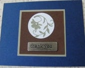 Handmade Card thank you metal embellishment - creativedesigns
