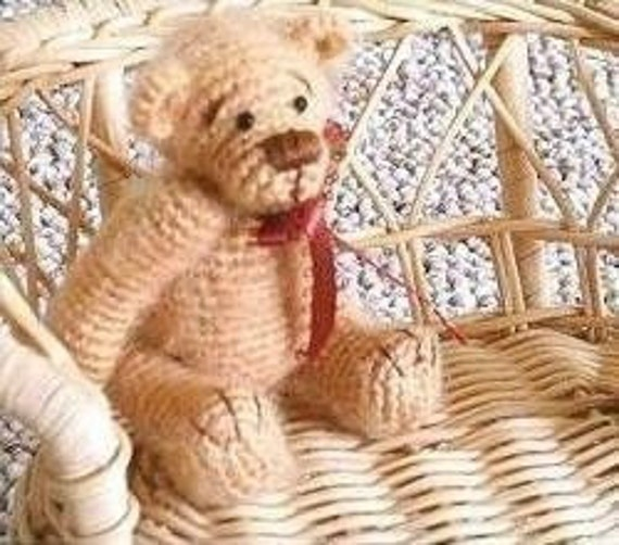 BROWN SUGAR Thread Teddy Bear -- Easy Crochet Pattern PDF