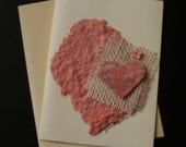 Mixed Media Love - Original Blank Mixed Media Note Card