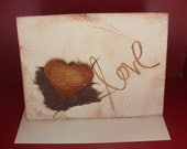 Blank Mixed Media Love Note Card