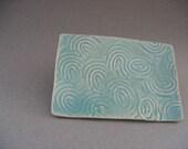 Swirl plate - Ceruleanblue