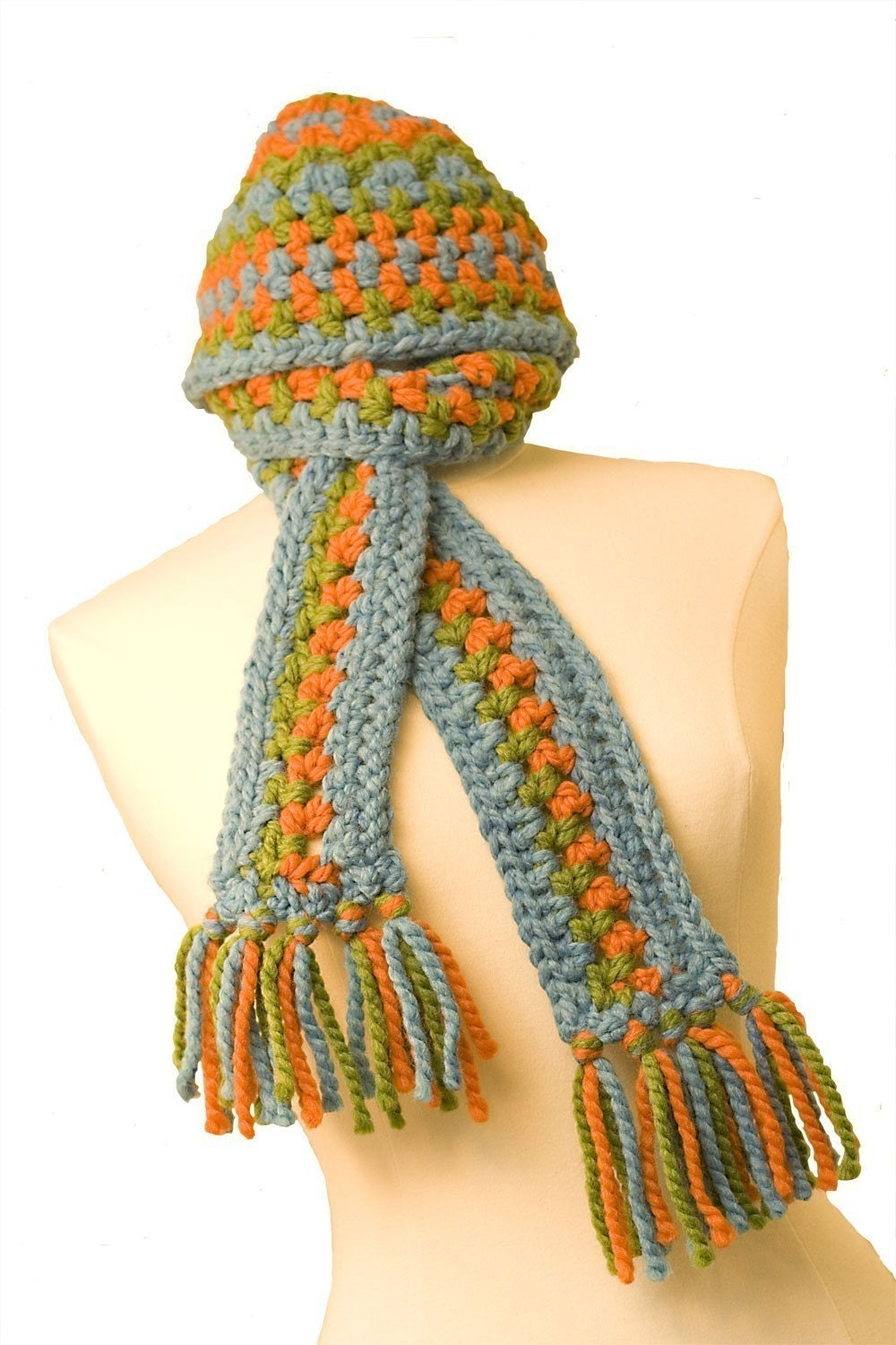 crochet pattern chunky hat and scarf from kristielynn Crochet Scarves And Hats Patterns