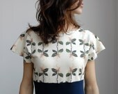 Pierrot dress  magnolia print  Free shipping N.AM - dearpony
