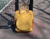 Vintage Gold Corduroy Tennis Bag - pupule