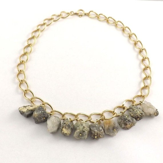 Pyrite and Agate Necklace