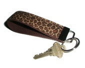 Leopard  Key Chain Wristlet