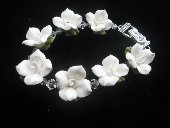 White Floral Bracelet