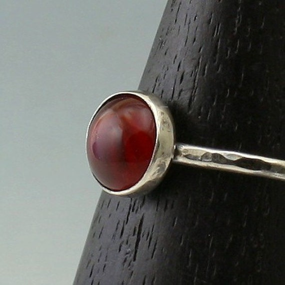 Sterling Silver Glass Stackable Ring Autumn Splendor