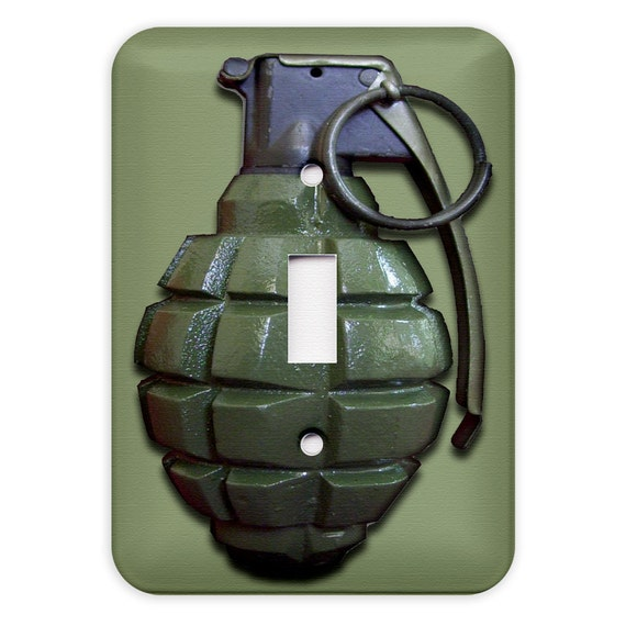 Hand Grenade Light Switch Plate Cover