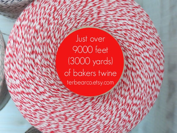 CLEARANCE Bakers twine 3000 yards Red and White