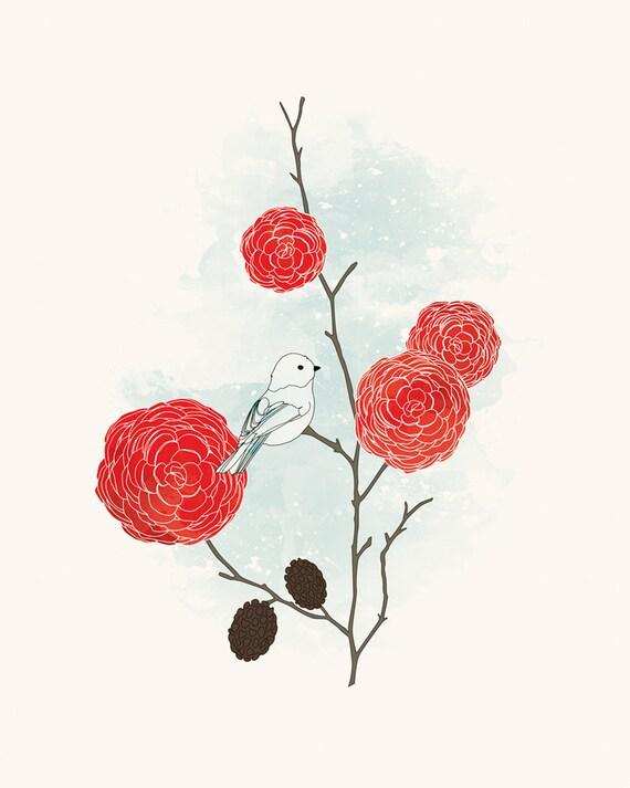 Little Snow Bird - 8x10 Print
