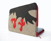 "The Crow - Laptop Sleeve - 13"" MacBook, Pro or Air - brokesy"