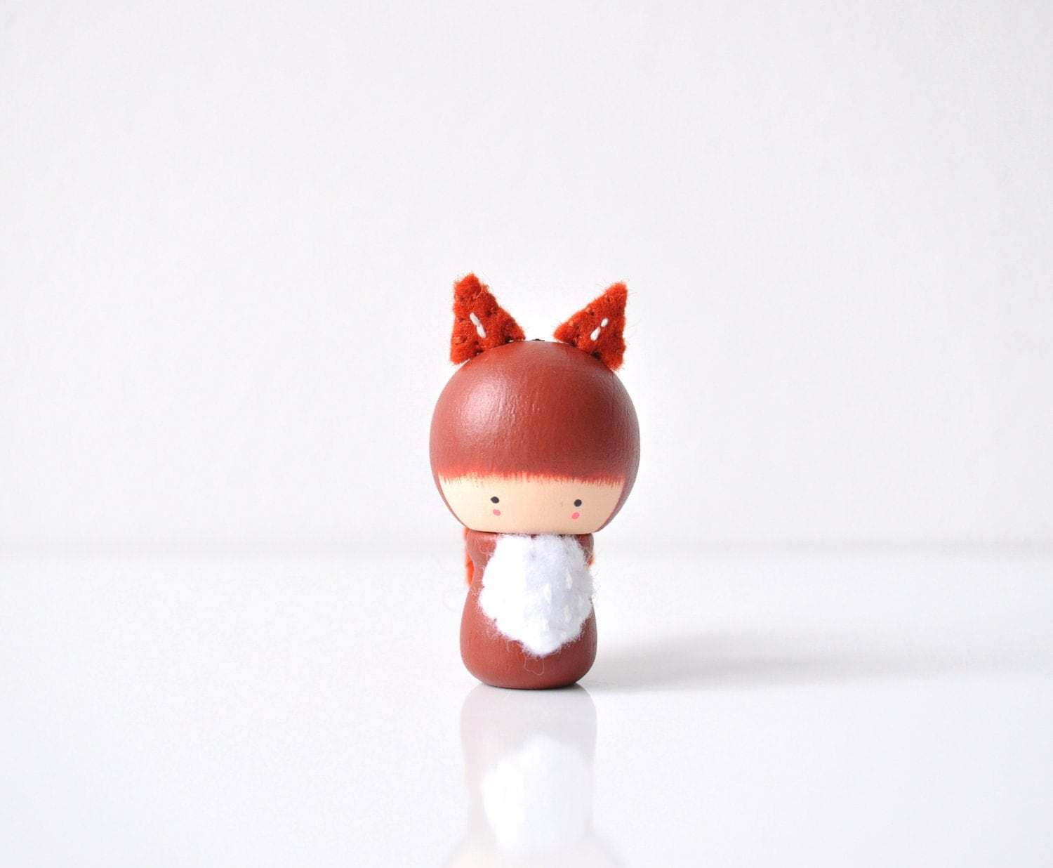 Kawaii Fox Wooden Figurine
