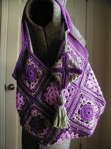 Vintage Style Drawstring Bag-Free Crochet Pattern « Cobblerscabin