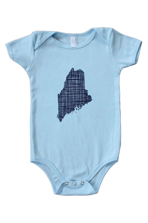 Plaid Maine Onesie in Blue