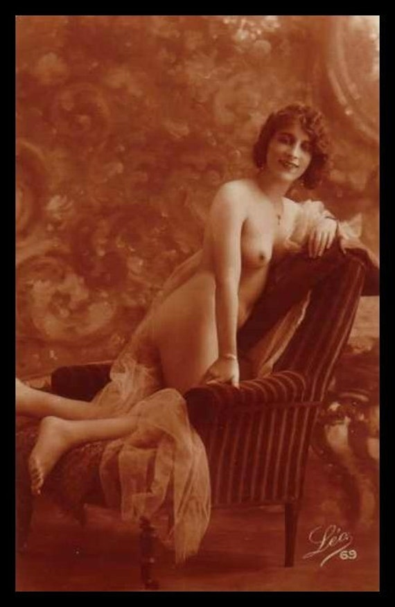 Mature Nude Photography Woman Sexy Pose Breast Victorian Risque Sepia Giclée ...