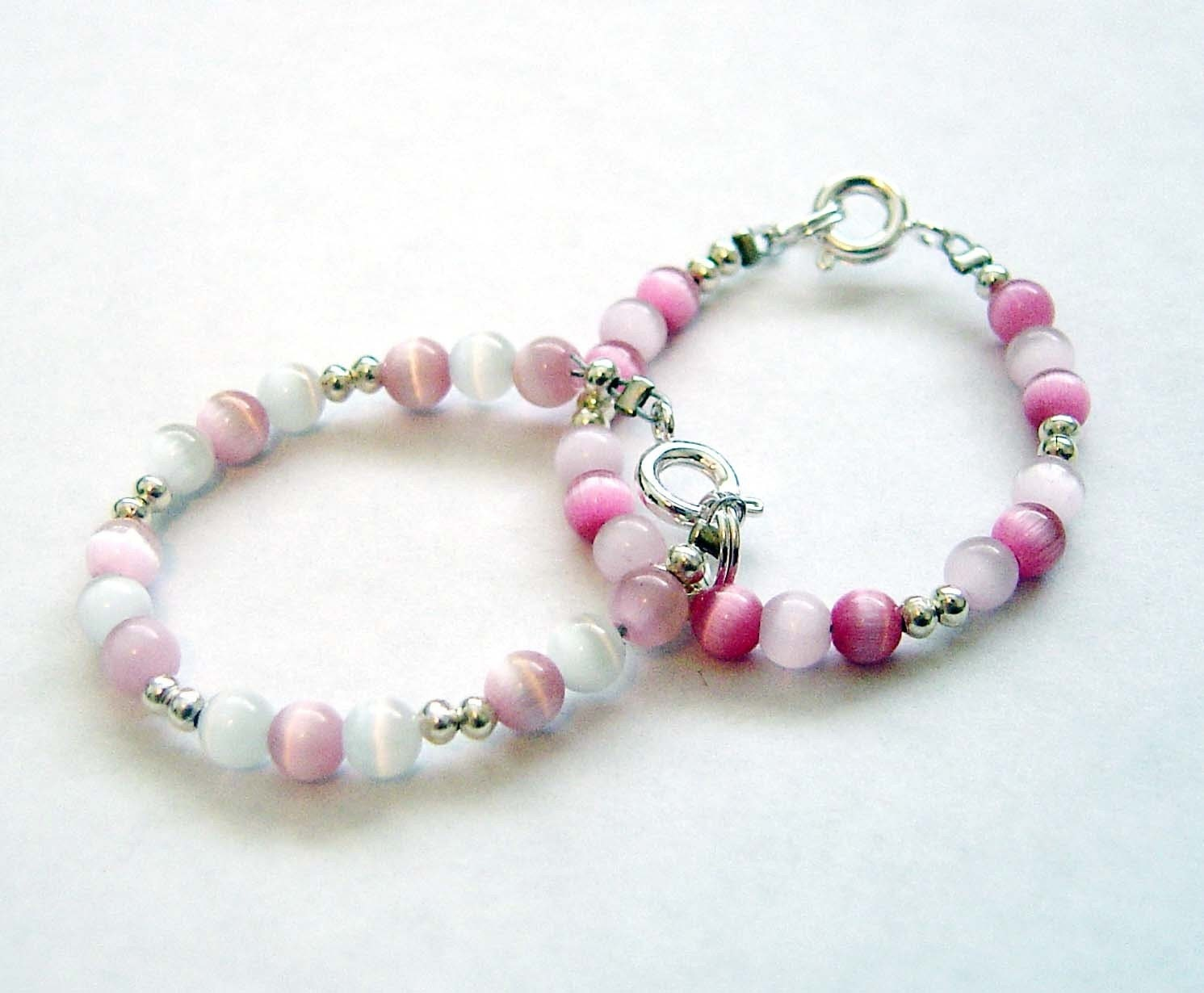 Baby Bracelets on Twins Baby Bracelets Set Of 2 All About Pink By Qt4baby On Etsy