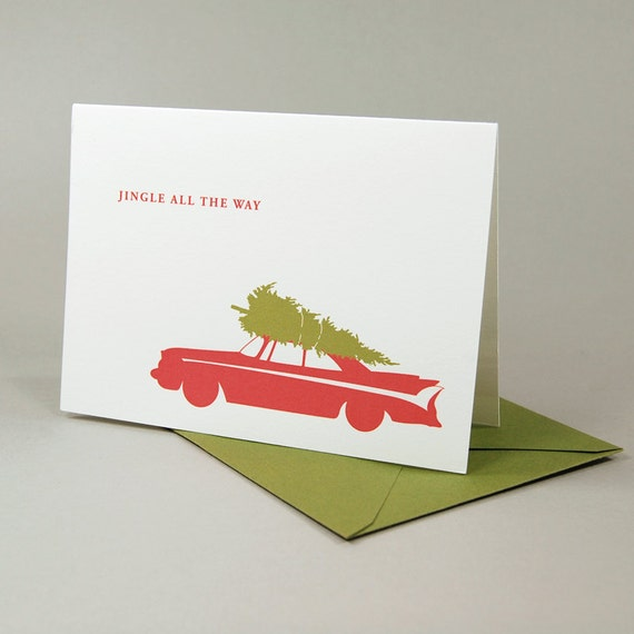 Christmas Card - Classic Car Holiday Card Set of 12