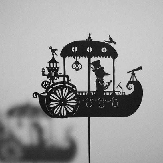 A Dream Steamboat / Laser-cut Shadow Puppet