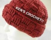 Basketweave Stitch Winter Hat-PDF Pattern Only