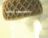 Diamond Stitch Crown Kufi-PDF Pattern Only