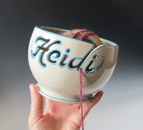 Personalized Yarn Bowl - Handmade to Order