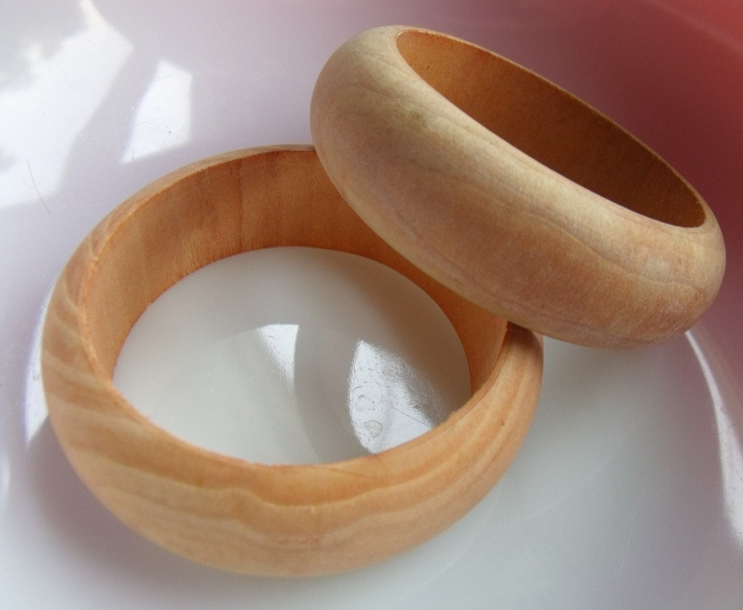 new wooden bracelets unfinished very nice ready for craftiness