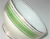 Roslyn Deco Open Sugar Bowl - Vintage 40s Bone China Tableware - studiostebbylee