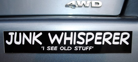 Junk Whisper Bumper Sticker