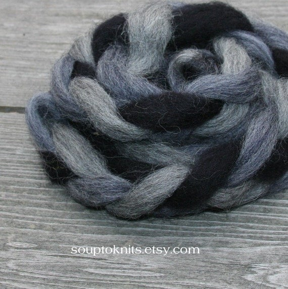 mini braid of wool roving