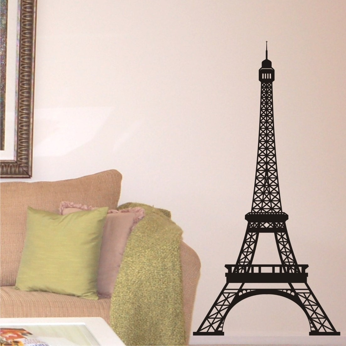Eiffel Tower Wall Decal highly detailed 5 by ChuckEByrdWallDecals