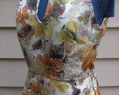 Audrey - 1960s Inspired Autumn Floral Dress 38-30-40 Ready to Ship