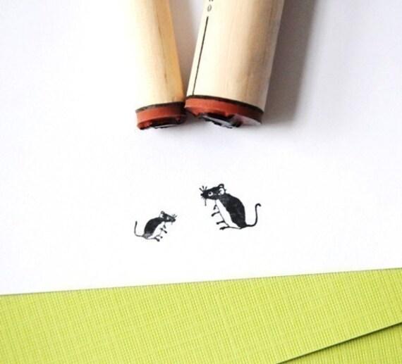 Mice Rubber Stamp Set