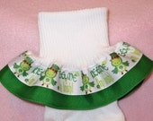 Custom Boutique Ribbon Ruffle Socks - St. Patrick