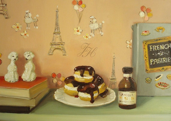 The Poodles Adore Pastries- Open Edition Print
