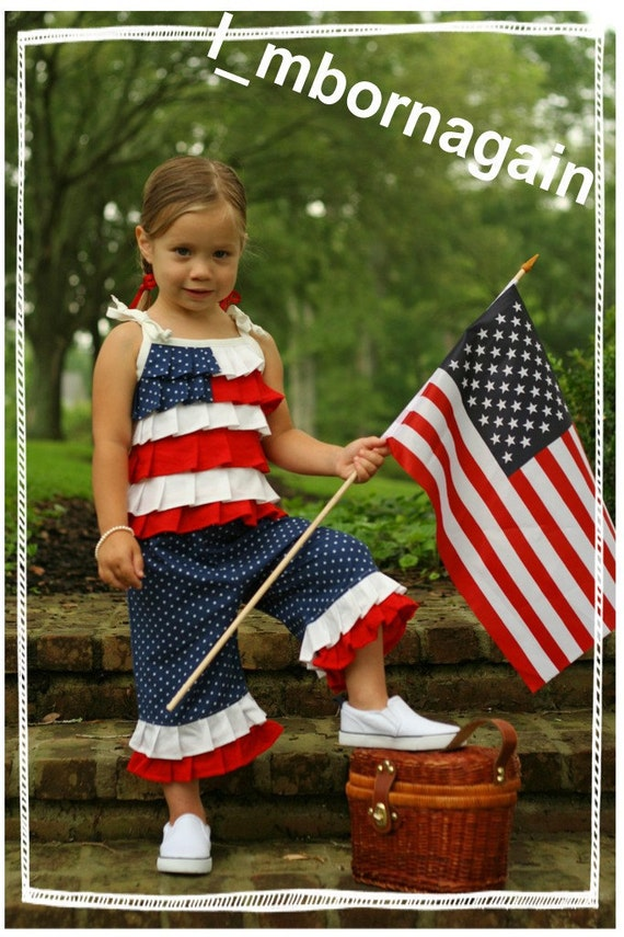 Patriotic Capri Set