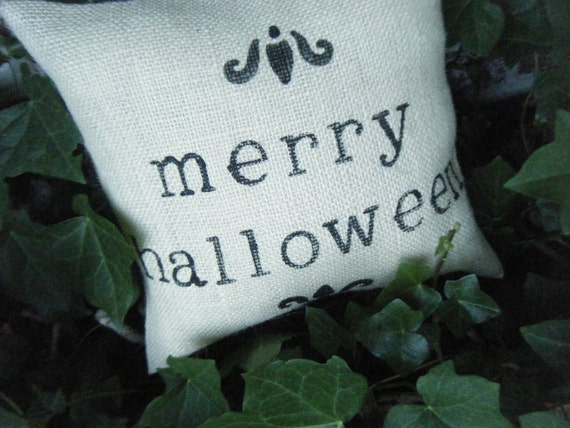 Elegant Halloween Collection Merry Halloween Pillow