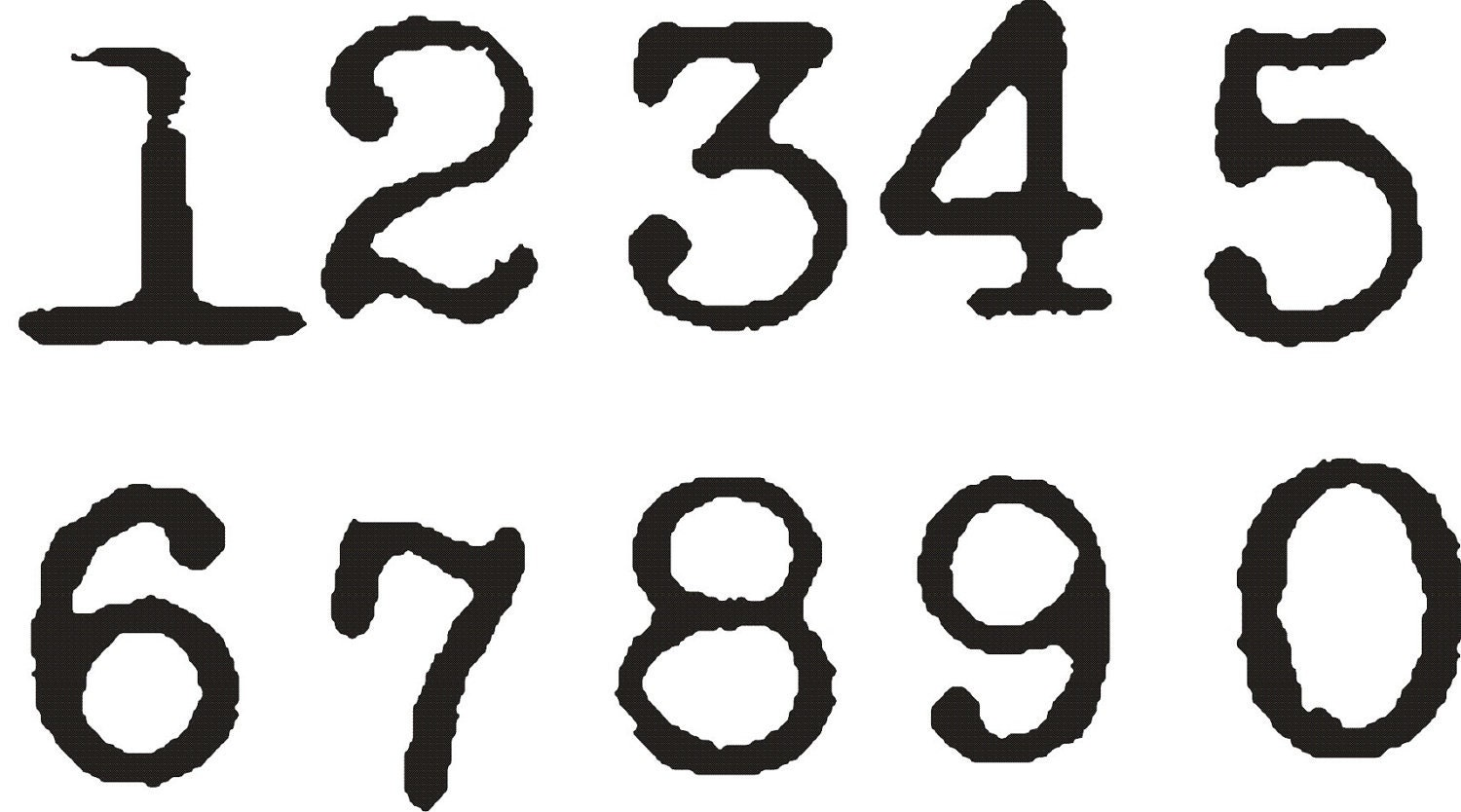 Old English Font Numbers 1 | Pics | Download |
