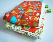Absorbent Cloth Diaper Burp Cloth with Erin McMorris Park Slops Bright Orange Fabric.