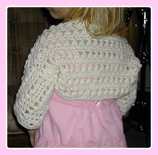 GIRLS SHRUG PATTERN - FREE PATTERNS