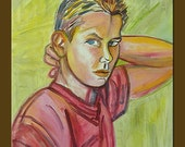 River Phoenix -- 16 x 20 original oil painting - ElizabethGraf