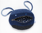 Blues Zippermouth Purse by WilleWorks - WilleWorks