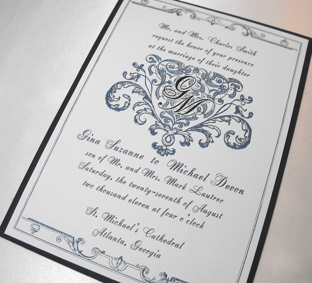 prince william and kate middleton: royal wedding invitations, Wedding invitations
