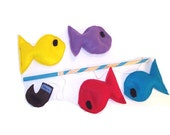 Felt Fishing Game, Eco Friendly Toy,  Montessori Toy - READY MADE - Sapucha